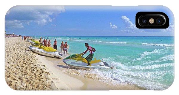 Jet Ski iPhone Case - Active Beach M3 by Francesca Mackenney