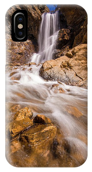Adams Canyon Waterfall Flow IPhone Case