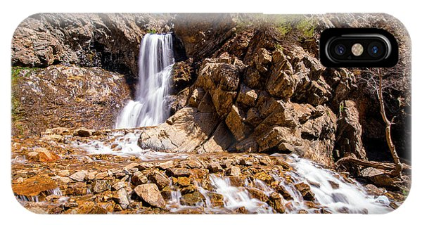 Adams Canyon Waterfall Pano IPhone Case