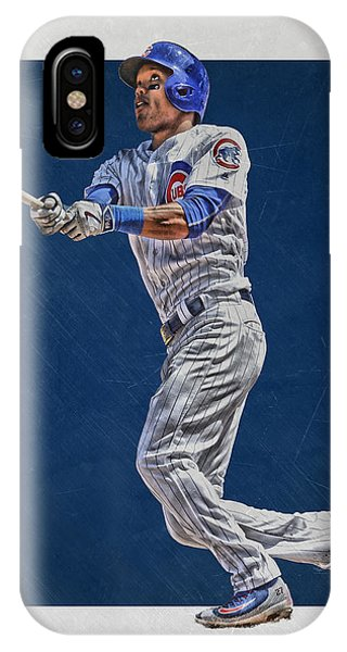 Ball iPhone Case - Addison Russell Chicago Cubs Art by Joe Hamilton