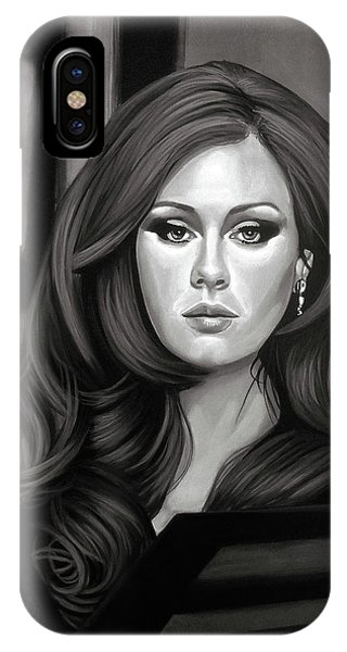 Adele iPhone Case - Adele Mixed Media by Paul Meijering