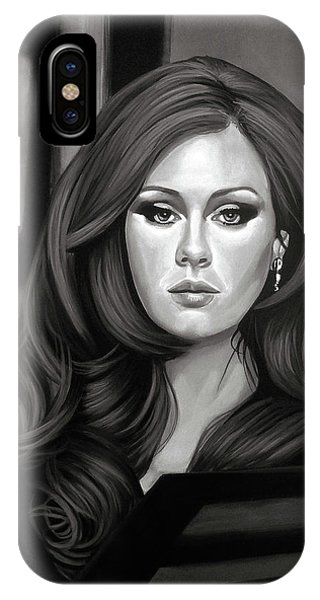 Rhythm And Blues iPhone X / XS Case - Adele Mixed Media by Paul Meijering