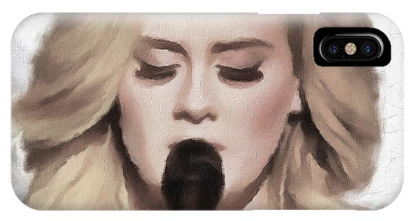 Adele iPhone Case - Adele Portrait Hello by Yury Malkov