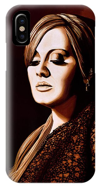 Adele iPhone Case - Adele Skyfall Gold by Paul Meijering