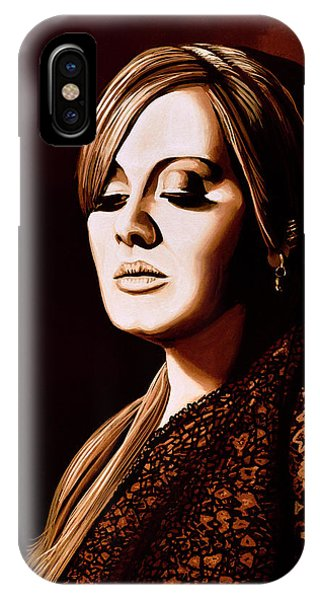Rhythm And Blues iPhone X / XS Case - Adele Skyfall Gold by Paul Meijering