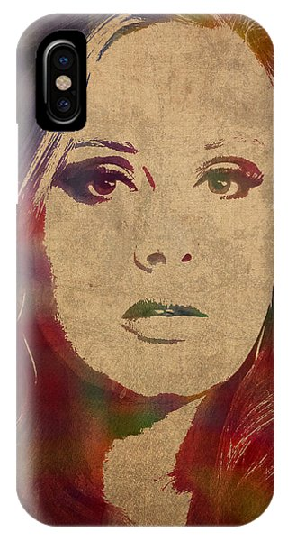 Adele iPhone Case - Adele Watercolor Portrait by Design Turnpike