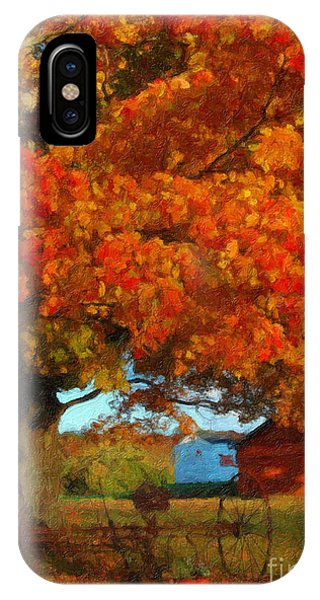 Adirondack Autumn Color Brush IPhone Case