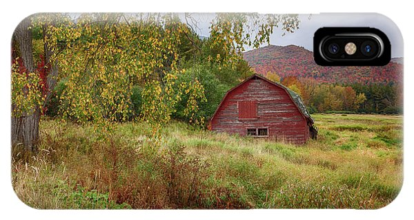 Adirondack Barn In Autumn IPhone Case