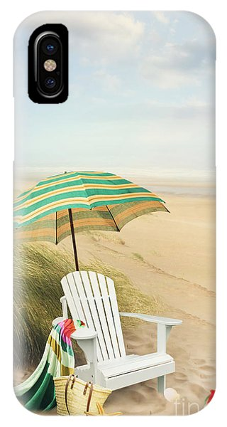 Adirondack Chair And Umbrella By The Seaside IPhone Case