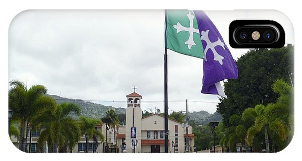 Adjuntas, Puerto Rico Flag IPhone Case