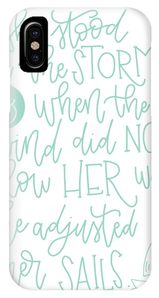 She iPhone Case - Adjusted Her Sails by Nancy Ingersoll