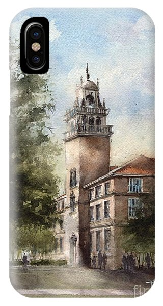 Administration Building At Texas Tech University IPhone Case