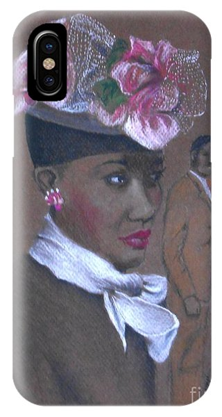 Admirer, 1947 Easter Bonnet -- The Original -- Retro Portrait Of African-american Woman IPhone Case