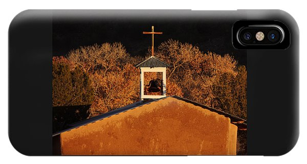 Adobe Church At San Ildefonso Pueblo In Northern New Mexico IPhone Case
