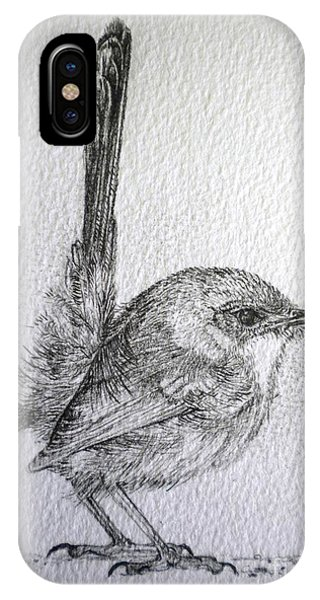 Adolescent Blue Wren IPhone Case