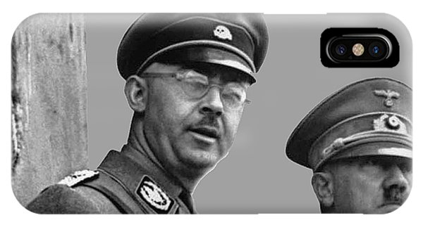 Adolf Hitler And Gestapo Head Heinrich Himmler Watching Parade Of Nazi Stormtroopers 1940-2015 IPhone Case