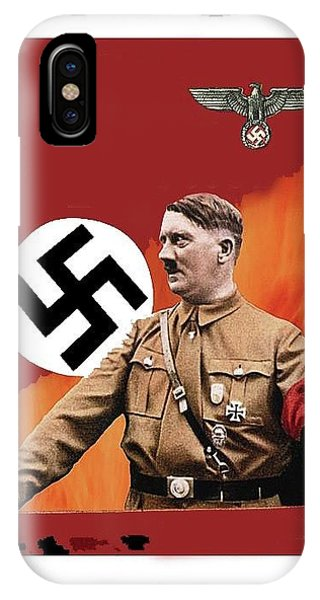 Adolf Hitler In Color With Nazi Symbols Unknown Date Additional Color Added 2016 IPhone Case