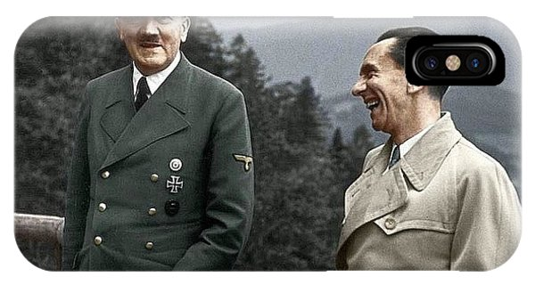 Adolf Hitler Joseph Goebbels Berghof Retreat  Number 2 Agfacolor Heinrich Hoffman Photo Circa 1942 IPhone Case
