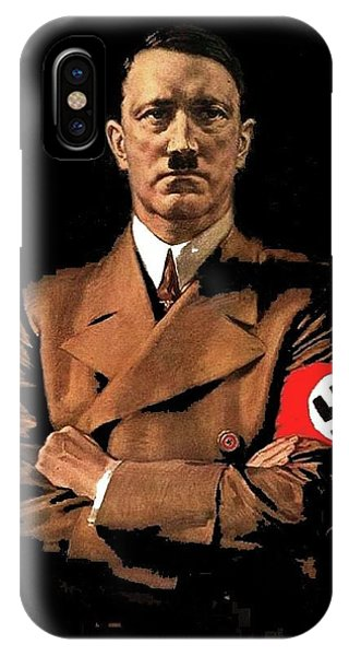 Adolf Hitler Painting Circa  1940 Color Added 2016 IPhone Case