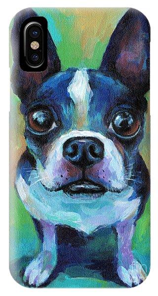 iPhone Case - Adorable Boston Terrier Dog by Svetlana Novikova