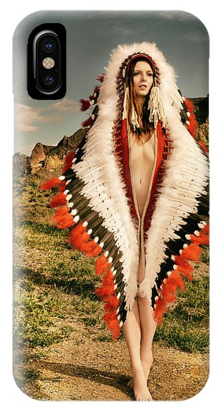 Adorned Feathered Nude IPhone Case