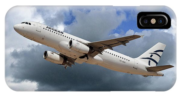 Airline iPhone Case - Aegean Airlines Airbus A320-232 by Smart Aviation