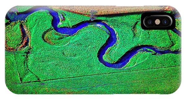 Aerial Farm Stream 3 IPhone Case