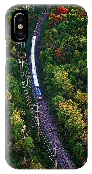 Aerial Of  Commuter Train  IPhone Case
