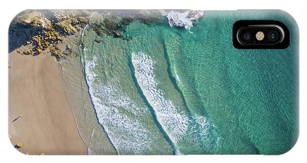 Aerial Shot Of Honeymoon Bay On Moreton Island IPhone Case