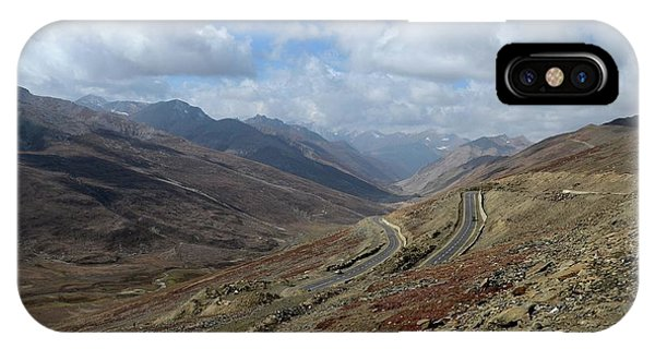 Aerial Shot Of Mountainous Karakoram Highway Babusar Pass Pakistan IPhone Case