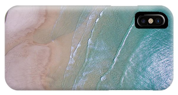 Aerial View Of Beach And Wave Patterns IPhone Case