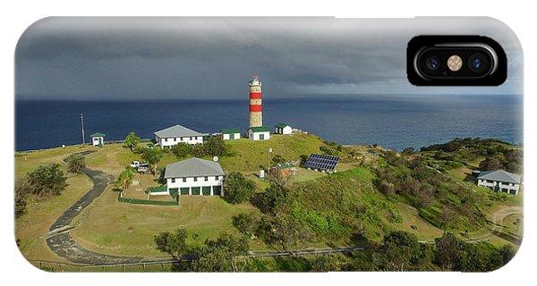 Aerial View Of Cape Moreton Lighthouse Precinct IPhone Case