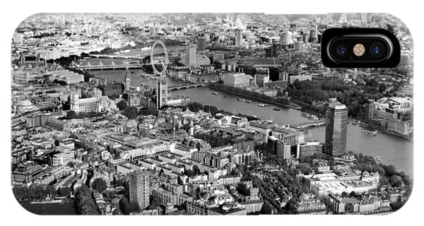 White iPhone Case - Aerial View Of London by Mark Rogan