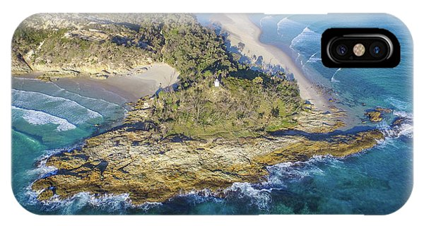 Aerial View Of North Point, Moreton Island IPhone Case