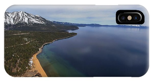 Aerial View Of Ski Beach, Lake Tahoe IPhone Case