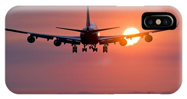 Aeroplane Landing At Sunset, Canada IPhone Case