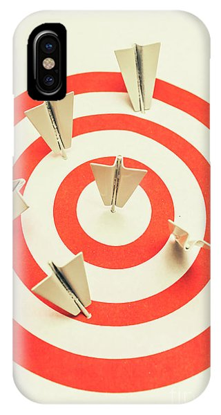 Achievement iPhone Case - Aeroplane Target Pin Board by Jorgo Photography - Wall Art Gallery