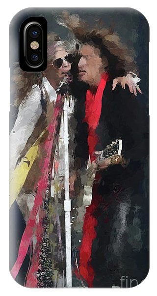 Steven Tyler iPhone Case - Tyler And Perry Oil Painting Enlargements by Concert Photos
