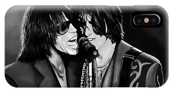 Steven Tyler iPhone Case - Aerosmith Toxic Twins Mixed Media by Paul Meijering
