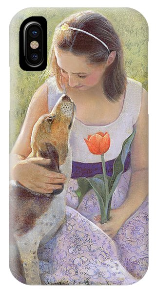 IPhone Case featuring the painting Affection by Nancy Lee Moran