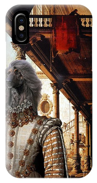 Afghan Hound-capriccio Of Colonade And The Courtyard Of A Palace Canvas Fine Art Print IPhone Case