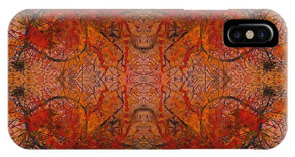 Aflame With Flower Quad Hotwaxed Version Of Acrylic/watercolour IPhone Case
