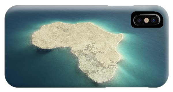 Aerial iPhone Case - Africa Conceptual Island Design by Johan Swanepoel
