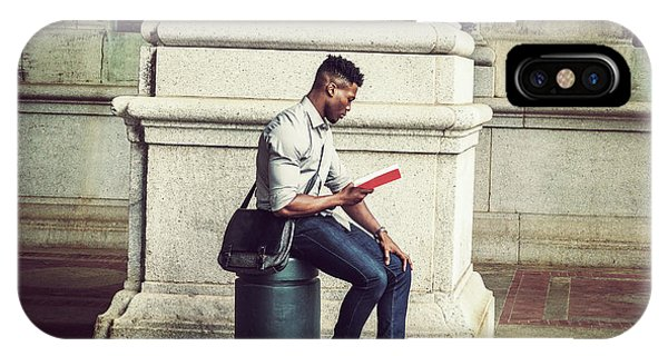 African American College Student Studying In New York IPhone Case