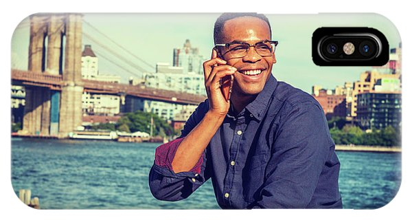 African American Man Traveling In New York IPhone Case