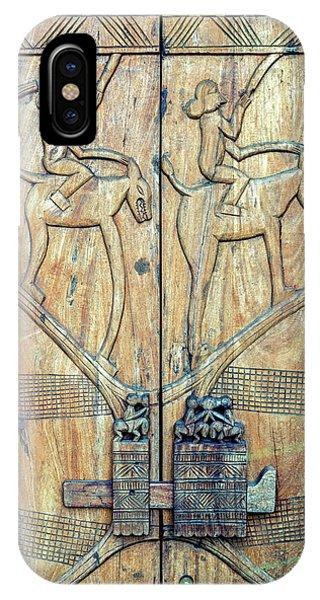 Indian Village iPhone Case - African Door by Stelios Kleanthous