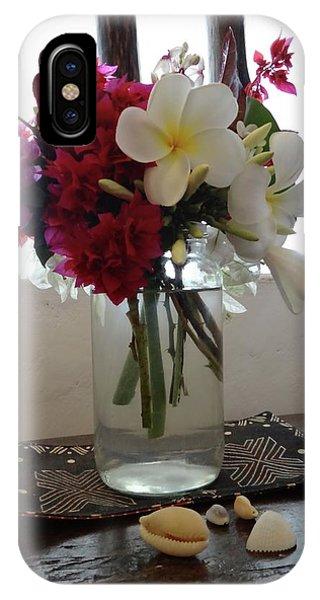 Exploramum iPhone Case - African Flowers And Shells by Exploramum Exploramum