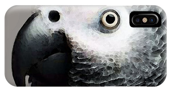 African Gray Parrot Art - Softy IPhone Case