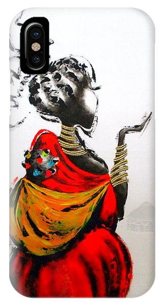 African Lady And Baby IPhone Case