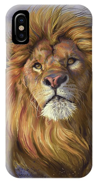 Digital iPhone Case - African Lion by Lucie Bilodeau